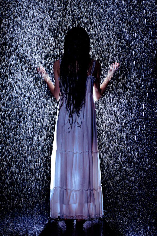 水に濡れる