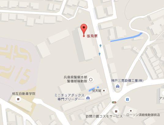 雄飛寮地図