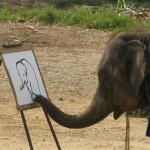 象が絵を描くぞう