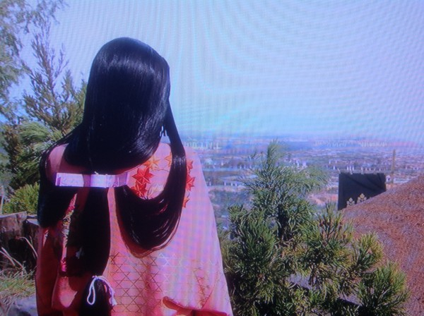 小田原城を見下ろす茶々