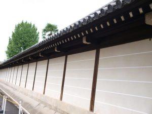 西本願寺 北小路の塀